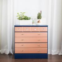 Two-Toned Rose Gold Dresser - Project by DecoArt