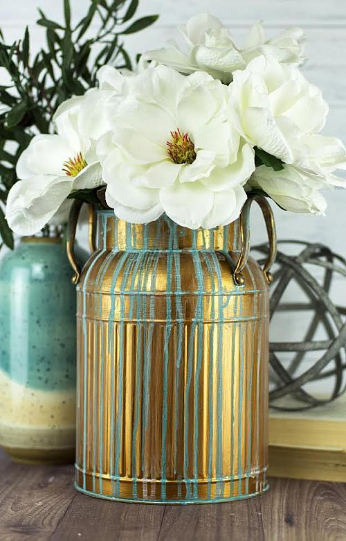 Patina Copper Milk Can Project By Decoart
