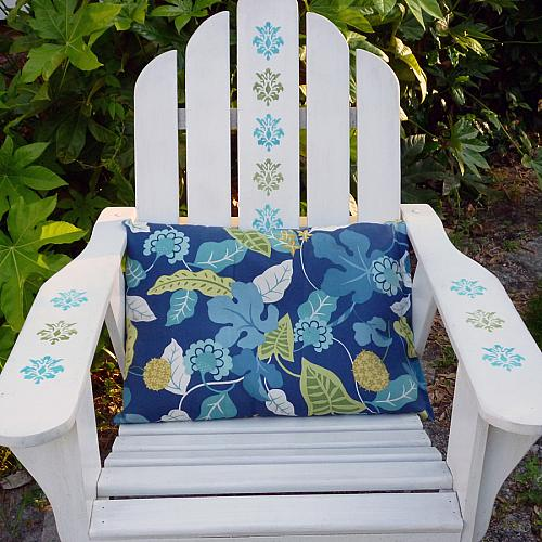 Stenciled Adirondack Chair  Project by DecoArt