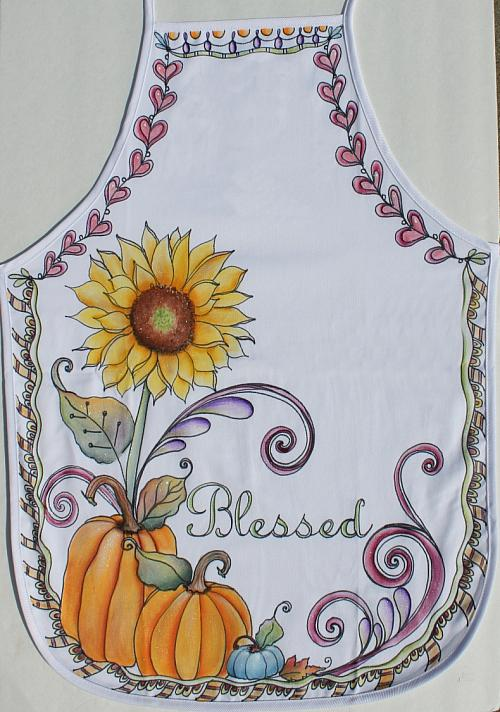 Blessed Fall Apron  Project by DecoArt