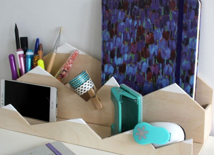 Organizer na biurko - jak zrobić samemu