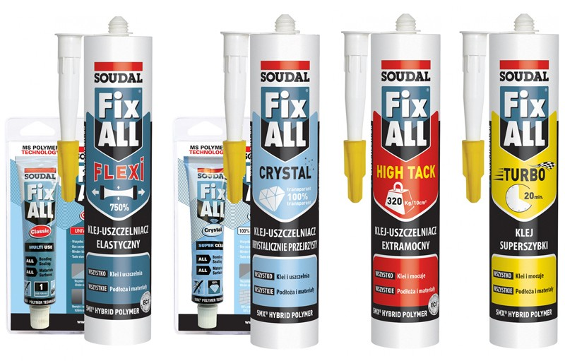 Kleje-uszczelniacze Fix All marki Soudal