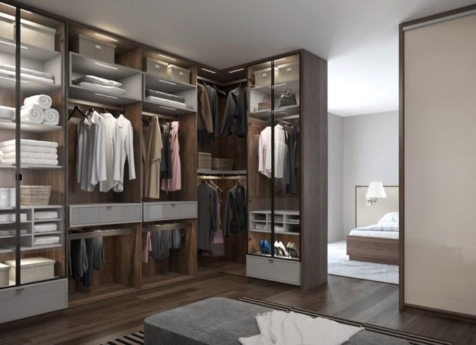 Projekt garderoby w osobnym pomieszczeniu