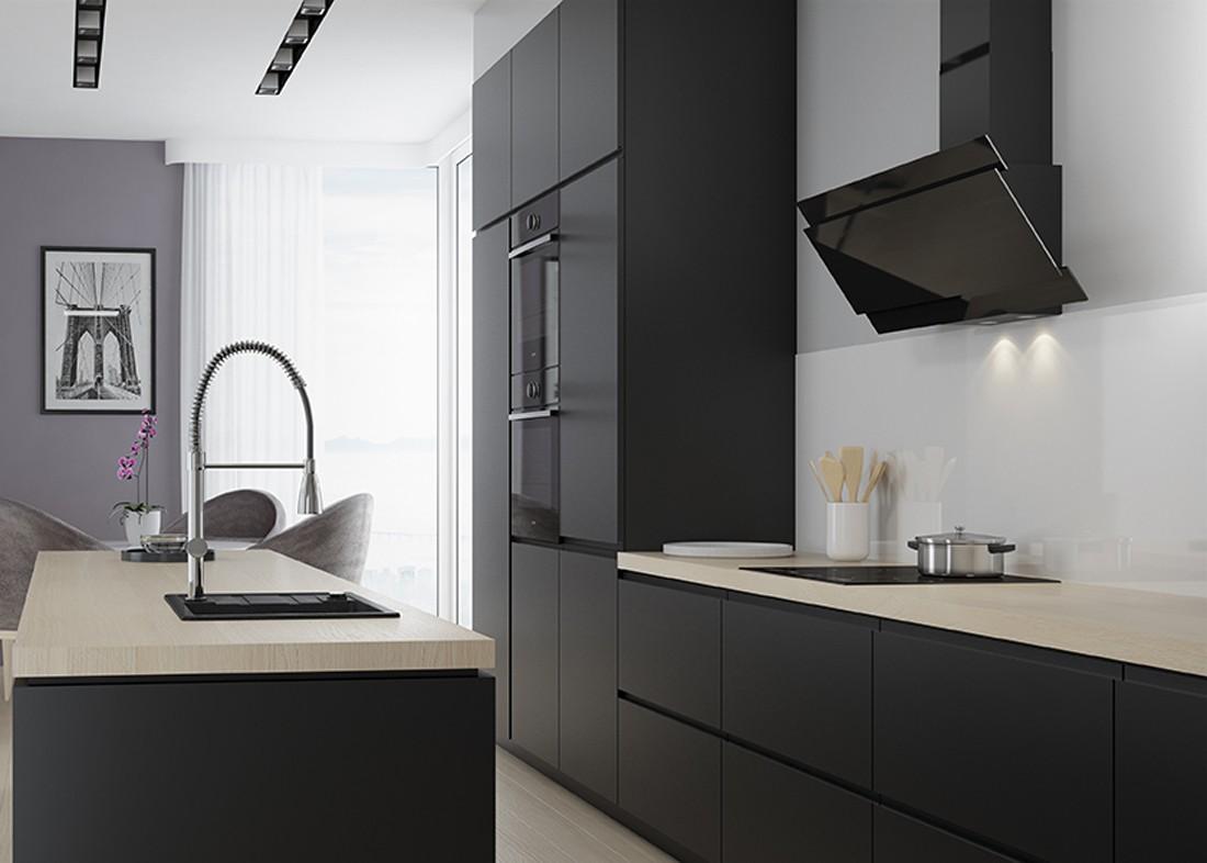 Kuchnia urządzona w stylu minimalistycznym