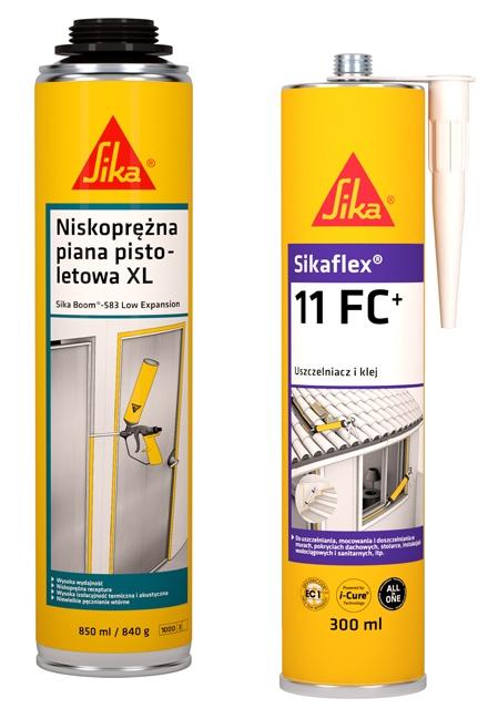 Produkty Sika do uszczelniania drzwi i okien