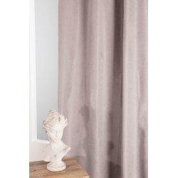 rideau occultant 135 x 280 cm a oeillets grande hauteur effet velours thermique anti froid uni gris clair
