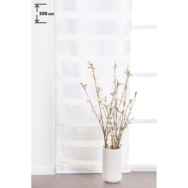 panneau japonais 60 x 300 cm a scratch grande hauteur effet naturel bandes horizontales tissees blanc