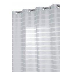 rideau voilage style design traits opaques gris argent