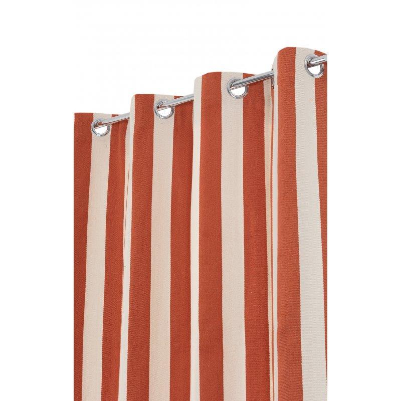 rideau style marin 140 x 260 cm a oeillets tissu lourd a rayures verticales bicolores orange