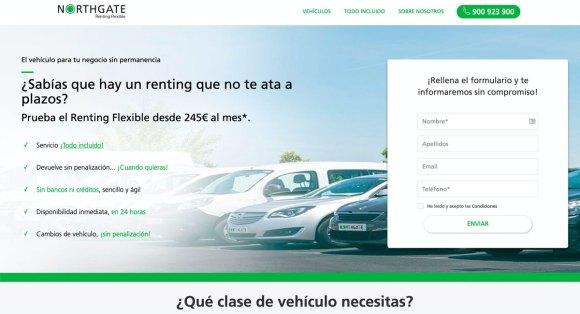 Northgate, renting flexible de vehiculos sin minimo de plazos