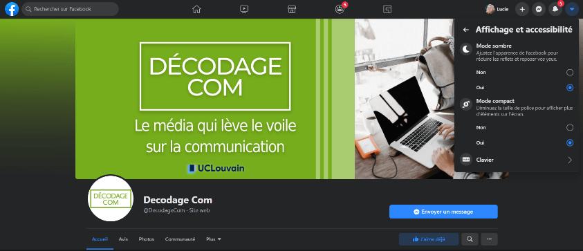 Page Facebook de Décodagecom