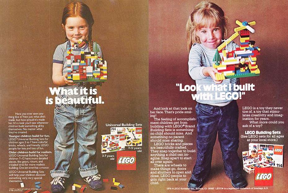 Affiches de la campagne publicitaire « What is beautiful » de Lego pour la journée de la femme