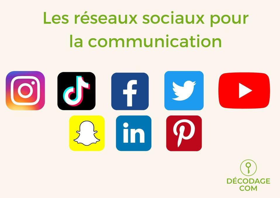 Les réseaux sociaux pour la communication: Instagram, TikTok, Facebook, Twitter, Youtube, Snapchat , Linkedin, Pinterest