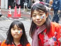 フェイスペインティング画像 ヨコハマ大道芸2013 ネコ イルカ お花 ハート ちょうちょ