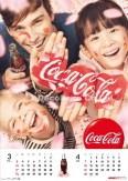 コカ・コーラ2013カレンダー フェイスペインティング