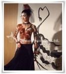 深井仁美 ボディペインティング 作品「フラメンコ – ROSE」 横浜開港150周年記念イベントでのライブパフォーマンス