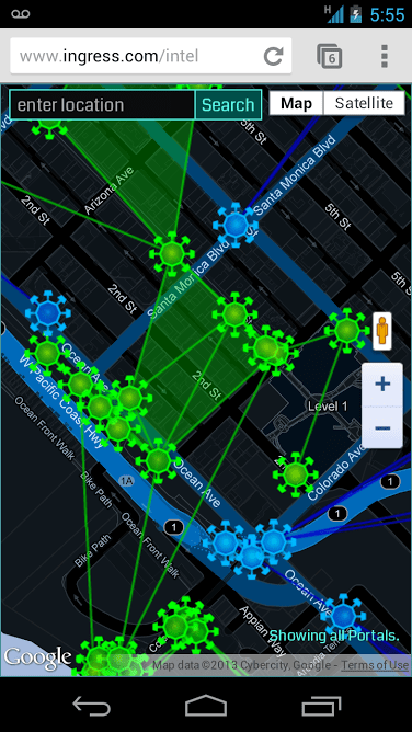 Ingress Mobile Intel Map
