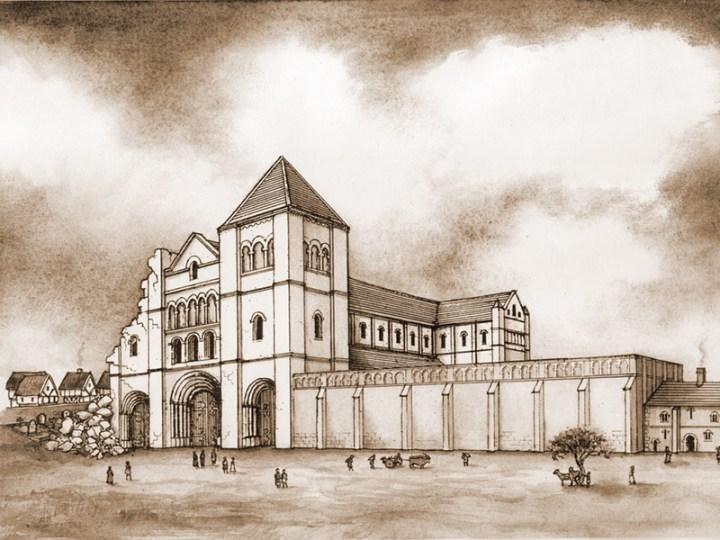 L'état de la cathédrale de Kingsbridge au moment où Tom arrive