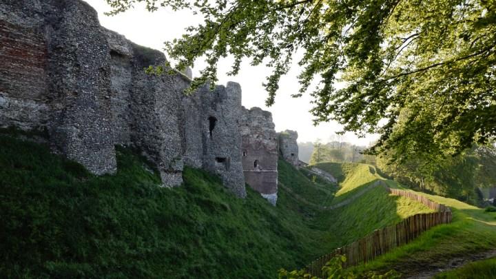 Rempart du château fort d'Arques-la-Bataille