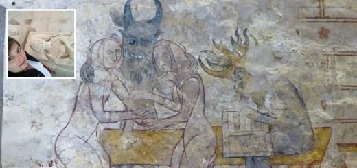 Peintures murales de l'église de Mesnil-Aubert