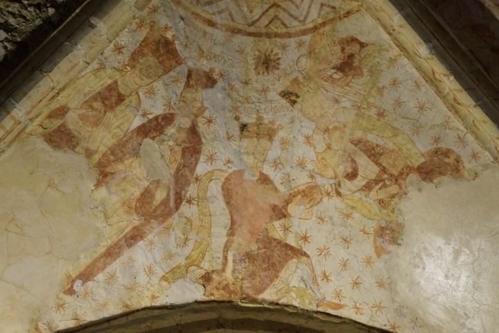 Peintures sous les voûtes de la chapelle de Sainte-Marie-aux-Anglais