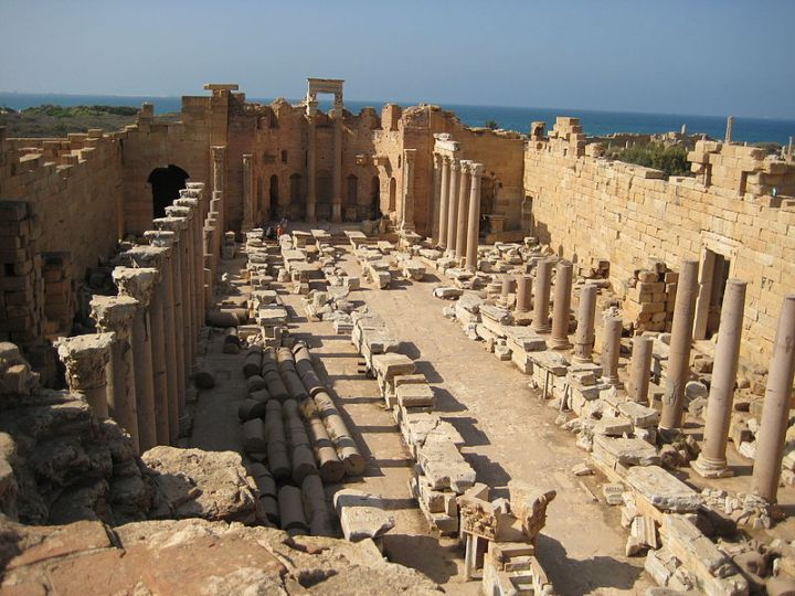 basilique sévérienne de Leptis Magna (Libye).