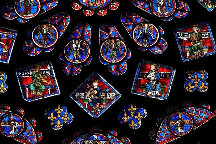 rois de Juda sur la rosace de la cathédrale de Chatres