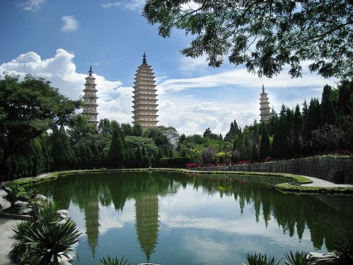 Temple des trois pagodes Trois tour du temple Chongsheng