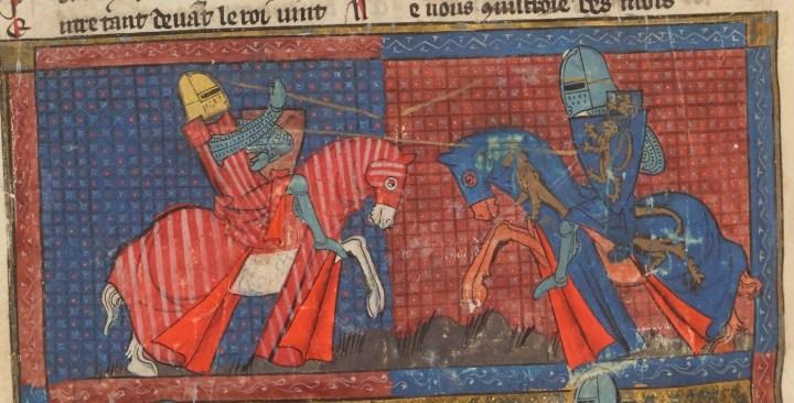 Combat de chevaliers.