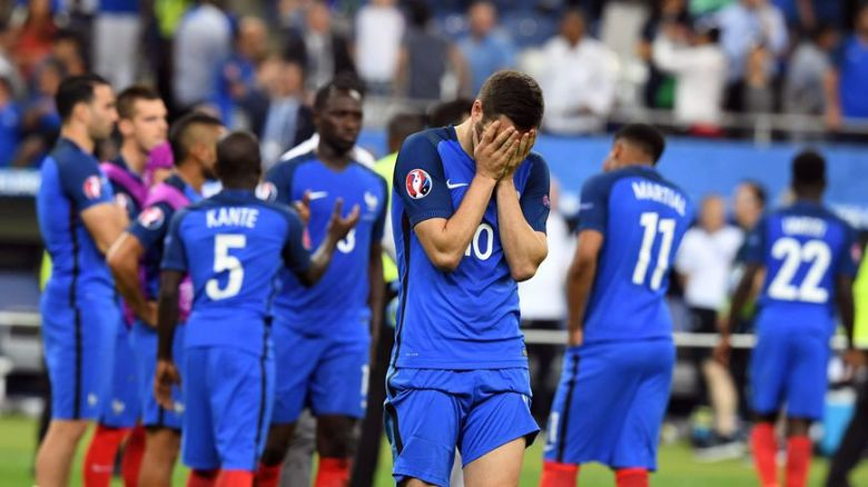 l'équipe de France déçue par l'échec