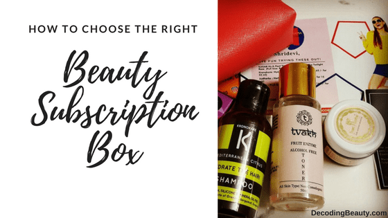 How to choose the right beauty subscription box