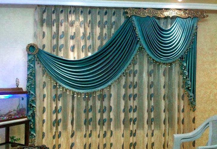 rideaux de salon traditionnel marocain