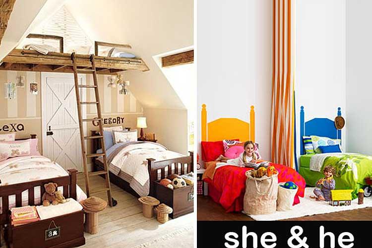 Paylaşılan odalar erkek ve kız