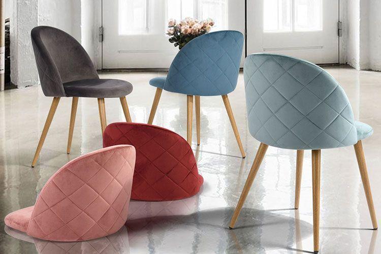 Renkli kadife sandalyeler