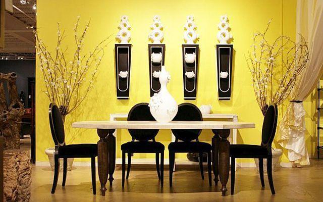 sarı-yemek-odası-dekorasyonu