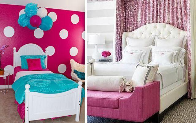 pembe-çocuk yatak odası dekorasyonu