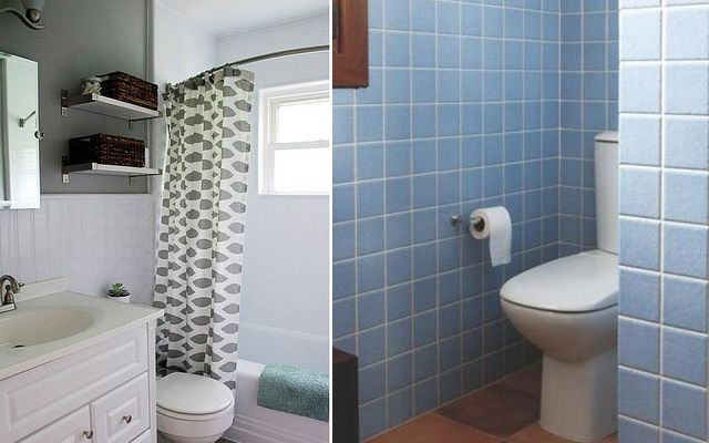 Küçük banyolar L şeklinde nasıl dağıtılır