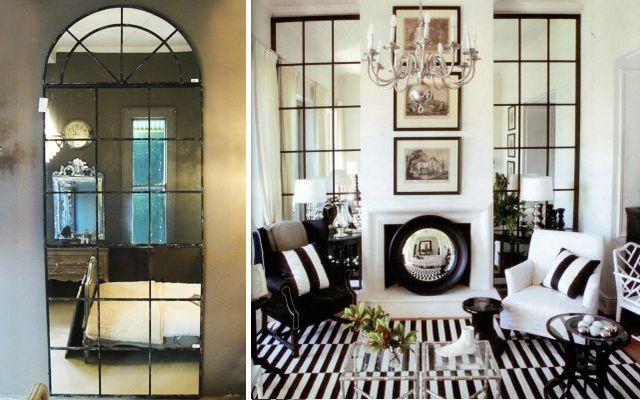 Evler pencere aynaları ile nasıl dekore edilir