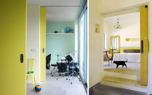 Renkli kapılarla dekorasyon fikirleri