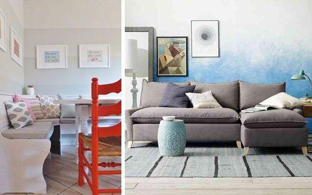 Degrade boya ile dekorasyon fikirleri