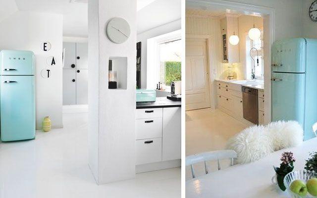 Mutfak dekorasyonunda Smeg buzdolapları Mutfak dekorasyonunda Smeg buzdolapları