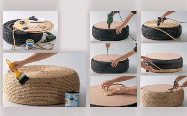 DIY lastiklerle süsleyin