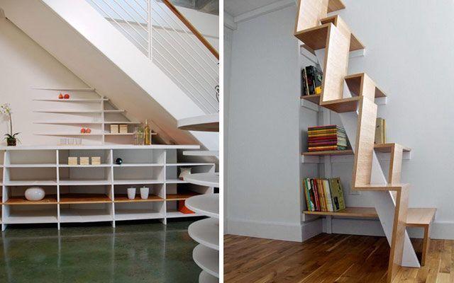 Merdivenlerin altındaki deliği süsleyin