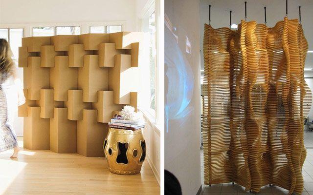 Modern ekranlarla dekorasyon fikirleri