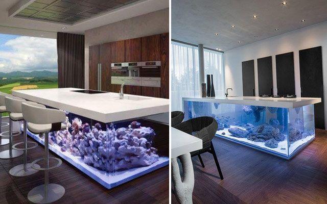 evdeki akvaryumlarla dekorasyon fikirleri