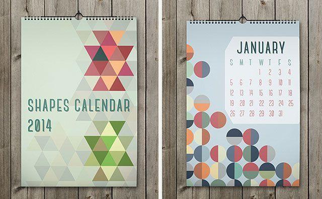 Duvarları süslemek için yeni yıl takvimleri