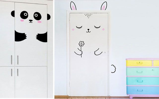 Kapılar için dekoratif vinil