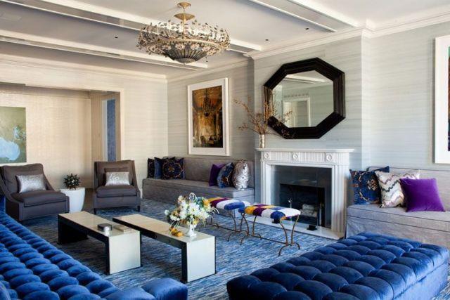 Renkli kanepeli oturma odaları