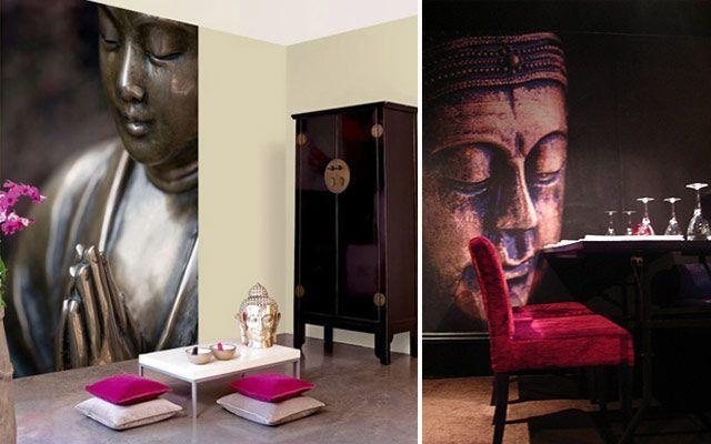 Buddah ile duvar dekorasyonu