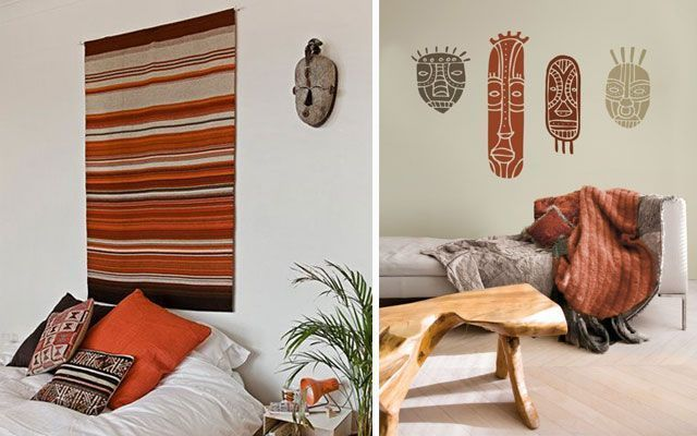 Duvarlar maskelerle nasıl dekore edilir